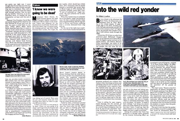 Article Preview: Into the wild red yonder, June 1980 | Maclean's