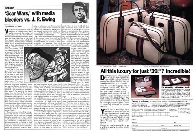 Article Preview: 'Scar Wars,' with media bleeders vs. J. R. Ewing, June 1980   Maclean's