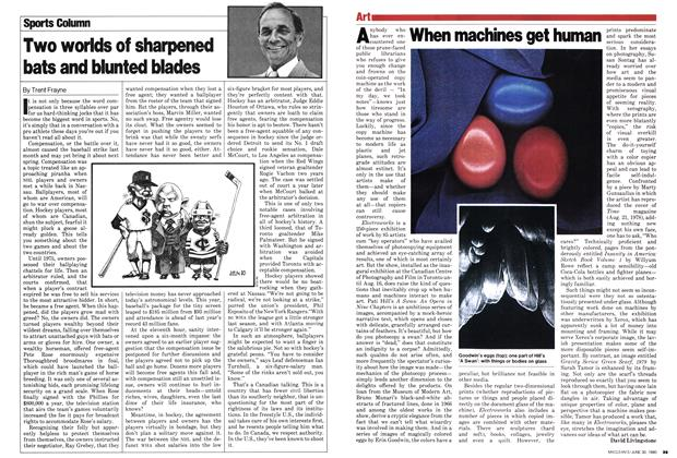 Article Preview: Two worlds of sharpened bats and blunted blades, June 1980 | Maclean's