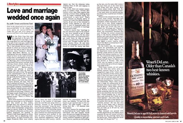 Article Preview: Love and marriage wedded once again, June 1980 | Maclean's