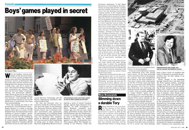 Article Preview: Boys' games played in secret, July 1980 | Maclean's