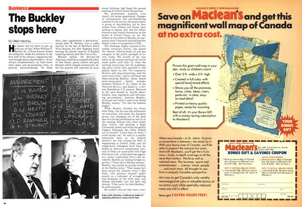 Article Preview: The Buckley stops here, July 1980 | Maclean's