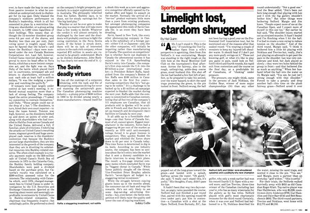 Article Preview: Limelight lost, stardom shrugged, July 1980 | Maclean's