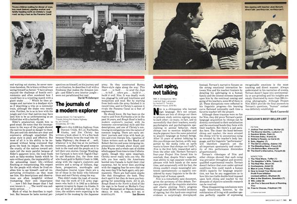 Article Preview: The journals of a modern explorer, July 1980 | Maclean's