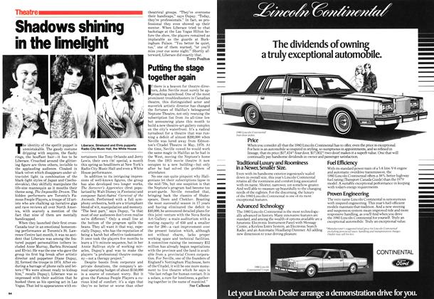 Article Preview: Shadows shining in the limelight, July 1980   Maclean's