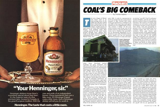 Article Preview: COAL'S BIG COMEBACK, July 1980 | Maclean's