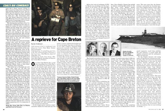 Article Preview: A reprieve for Cape Breton, July 1980 | Maclean's