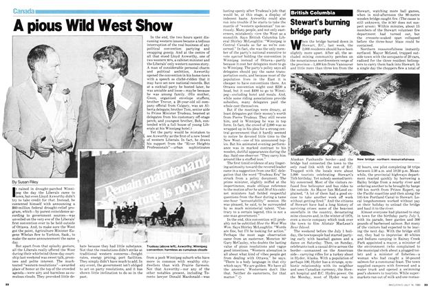 Article Preview: Stewart's burning bridge party, July 1980 | Maclean's