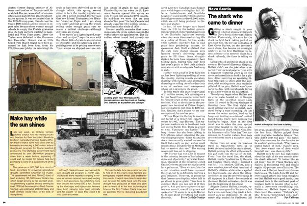 Article Preview: The shark who came to dinner, July 1980 | Maclean's