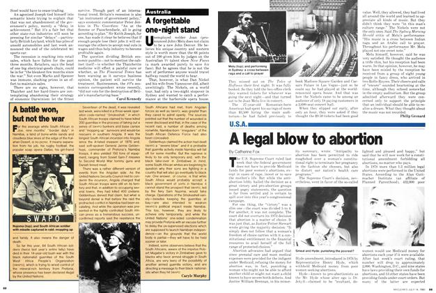 Article Preview: A forgettable one-night stand, July 1980   Maclean's