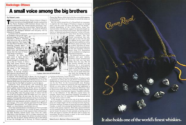 Article Preview: A small voice among the big brothers, July 1980 | Maclean's