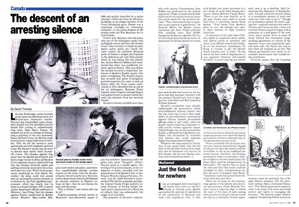Article Preview: The descent of an arresting silence, July 1980 | Maclean's