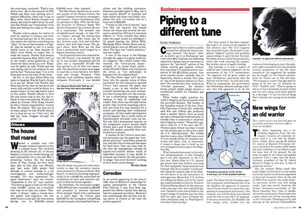 Article Preview: Piping to a different tune, July 1980 | Maclean's