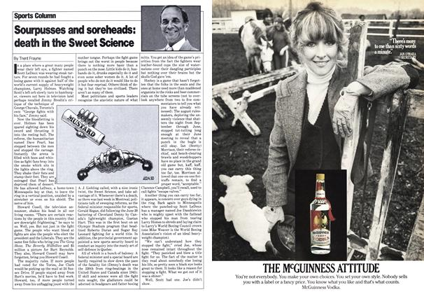 Article Preview: Sourpusses and soreheads: death in the Sweet Science, July 1980 | Maclean's