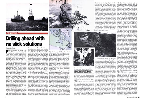 Article Preview: Drilling ahead with no slick solutions, July 1980 | Maclean's