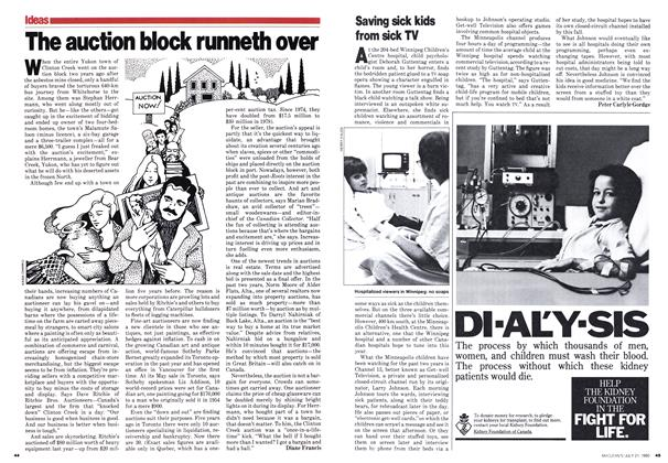 Article Preview: The auction block runneth over, July 1980 | Maclean's