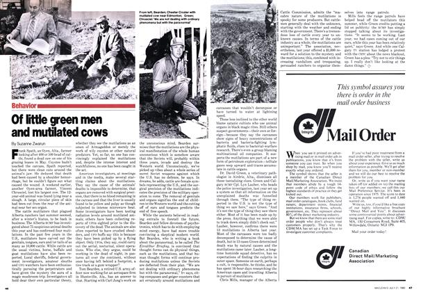 Article Preview: Of little green men and mutilated cows, July 1980 | Maclean's