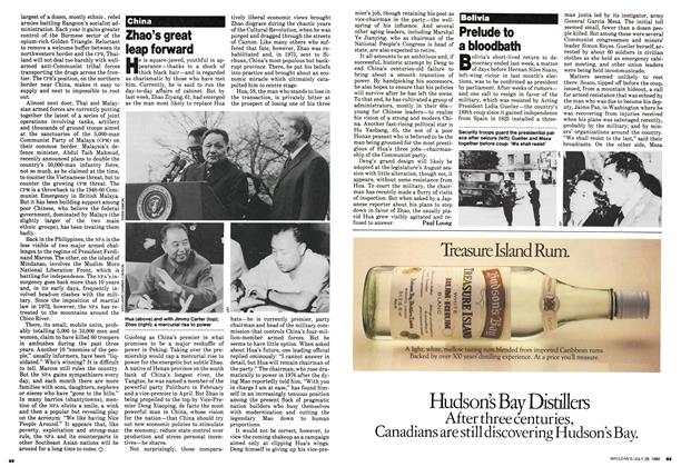 Article Preview: Prelude to a bloodbath, July 1980 | Maclean's