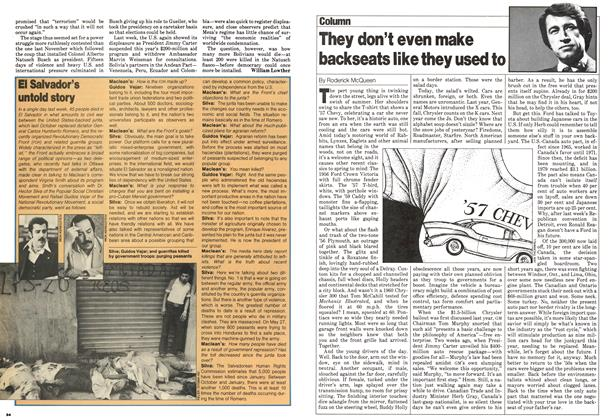 Article Preview: They don't even make backseats like they used to, July 1980 | Maclean's