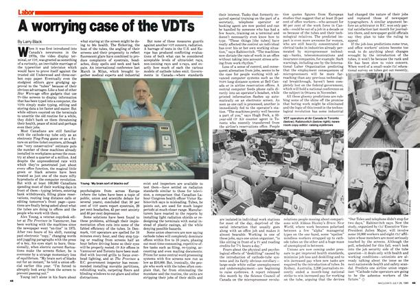 Article Preview: A worrying case of the VDTs, July 1980 | Maclean's