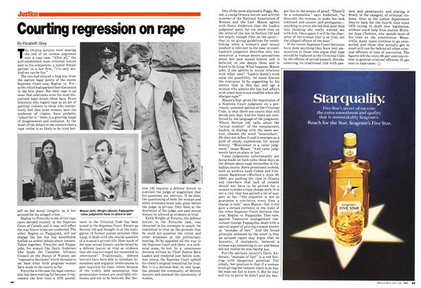 Article Preview: Courting regression on rape, July 1980 | Maclean's