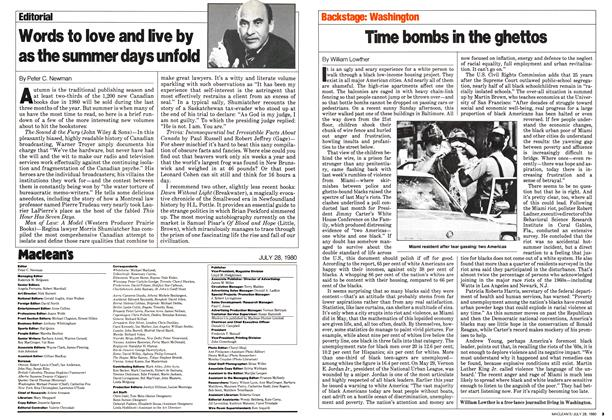 Article Preview: Words to love and live by as the summer days unfold, July 1980 | Maclean's