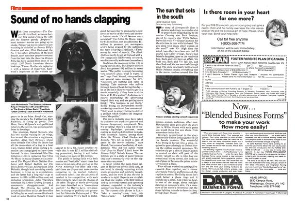 Article Preview: Sound of no hands clapping, July 1980 | Maclean's