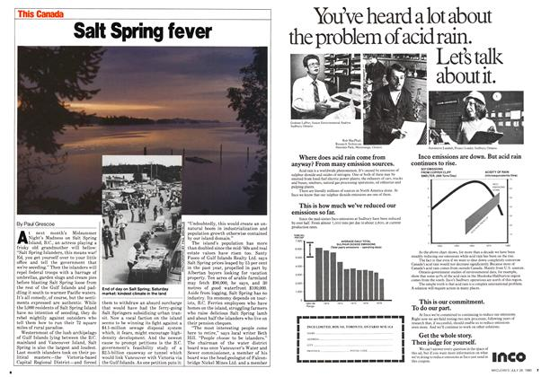 Article Preview: Salt Spring fever, July 1980 | Maclean's
