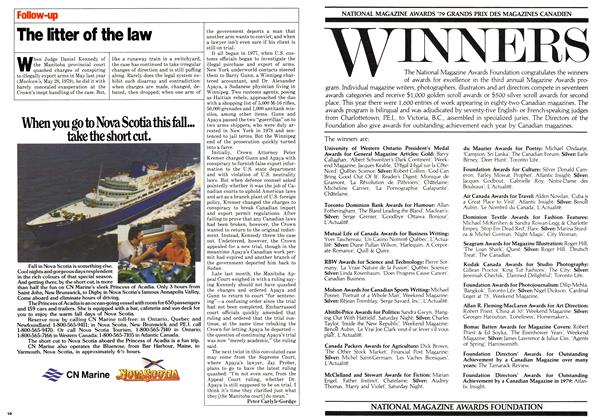 Article Preview: The litter of the law, July 1980   Maclean's