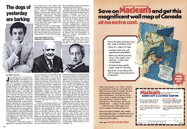 Article Preview: The dogs of yesterday are barking, August 1980 | Maclean's