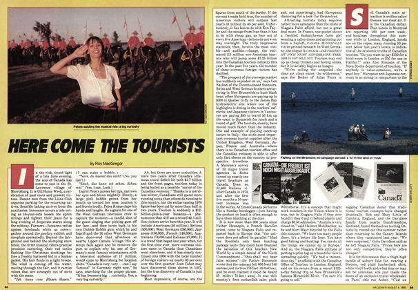 Article Preview: HERE COME THE TOURISTS, August 1980 | Maclean's