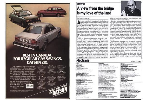 Article Preview: A view from the bridge is my love of the land, August 1980 | Maclean's