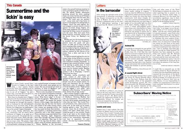Article Preview: Summertime and the lickin' is easy, August 1980 | Maclean's