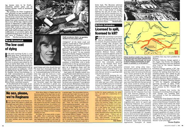 Article Preview: No sex, please, we're Reginans, August 1980 | Maclean's