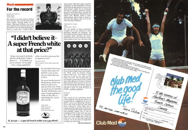 Article Preview: For the record, August 1980 | Maclean's