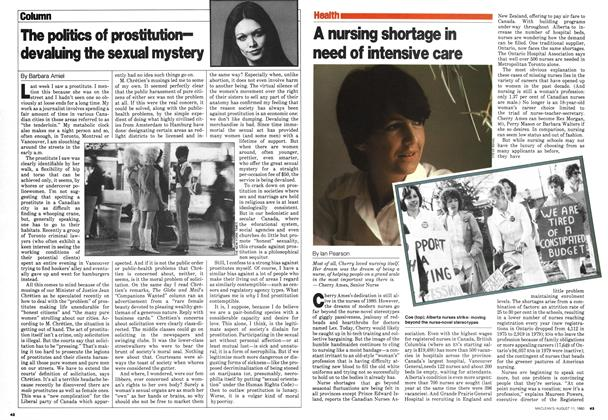Article Preview: A nursing shortage in need of intensive care, August 1980 | Maclean's