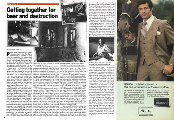 Article Preview: Getting together for beer and destruction, August 1980 | Maclean's