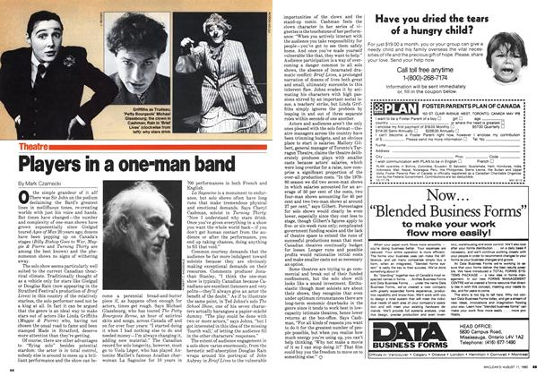 Article Preview: Players in a one-man band, August 1980   Maclean's