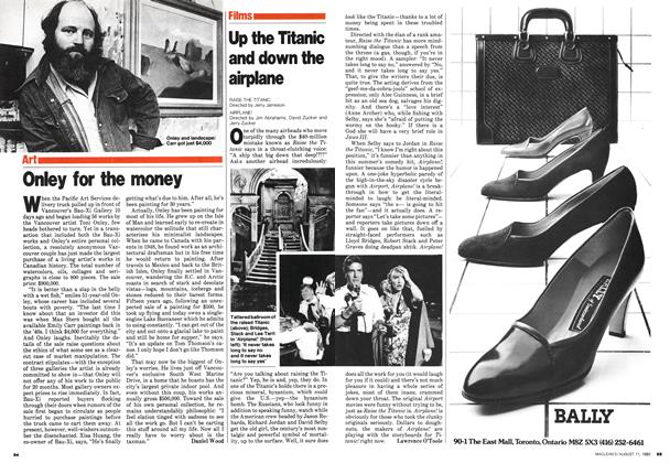 Article Preview: Up the Titanic and down the airplane, August 1980 | Maclean's