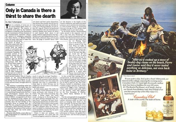 Article Preview: Only in Canada is there a thirst to share the dearth, August 1980 | Maclean's