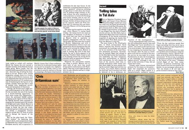 Article Preview: Telling tales in Tel Aviv, August 1980 | Maclean's