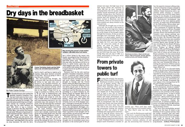Article Preview: Dry days in the breadbasket, August 1980   Maclean's