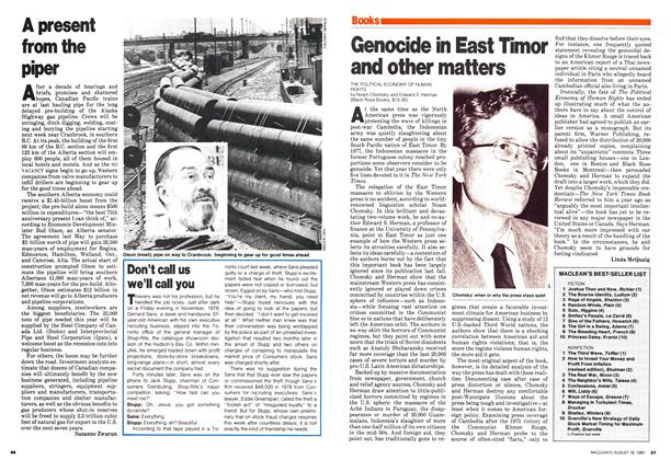 Article Preview: Genocide in East Timor and other matters, August 1980 | Maclean's