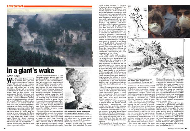 Article Preview: In a giant's wake, August 1980 | Maclean's