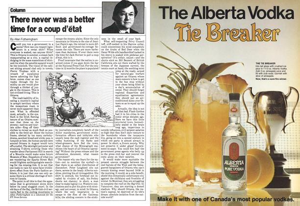Article Preview: There never was a better time for a coup d'état, August 1980 | Maclean's