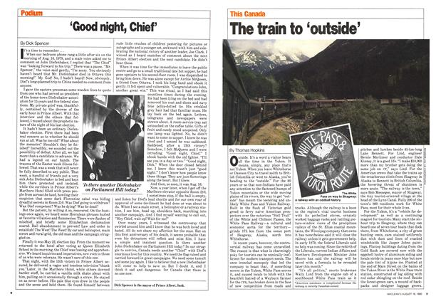 Article Preview: The train to 'outside', August 1980 | Maclean's