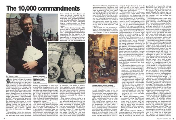 Article Preview: The 10,000 commandments, August 1980 | Maclean's