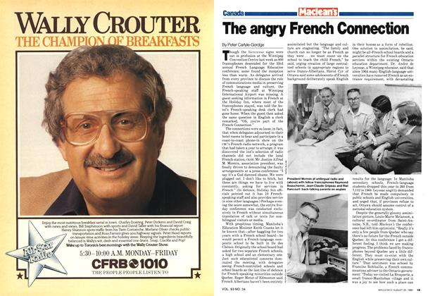 Article Preview: The angry French Connection, August 1980 | Maclean's