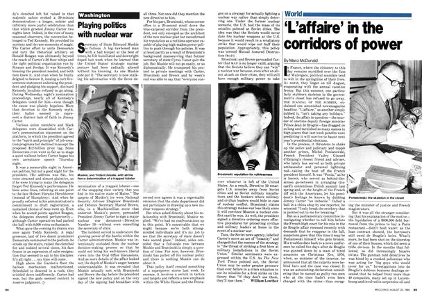 Article Preview: 'L'affaire' in the corridors of power, August 1980 | Maclean's