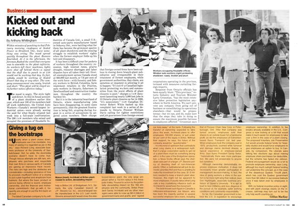 Article Preview: Kicked out and kicking back, August 1980 | Maclean's